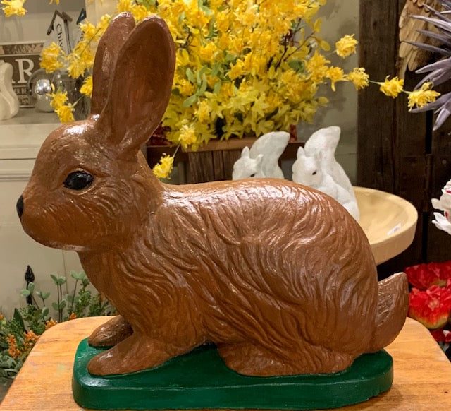 Concrete Garden Statuary - Big Brown Rabbit Garden Statue