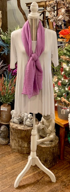 Clothing Accessory - Gauzy Long Solid-Color Scarf