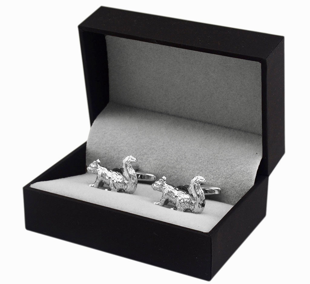 Jewelry - Silver Squirrel Cuff Links