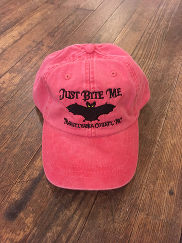 "Baseball Hart - Embroidered ""Just Bite Me"" baseball caps"