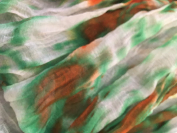 Clothing Accessory - Crinkle Paisley or Tie-dyed Scarf #