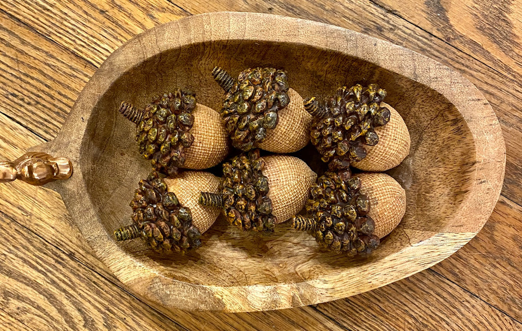 Home Decor - Resin Acorns with Pine Cone Tops