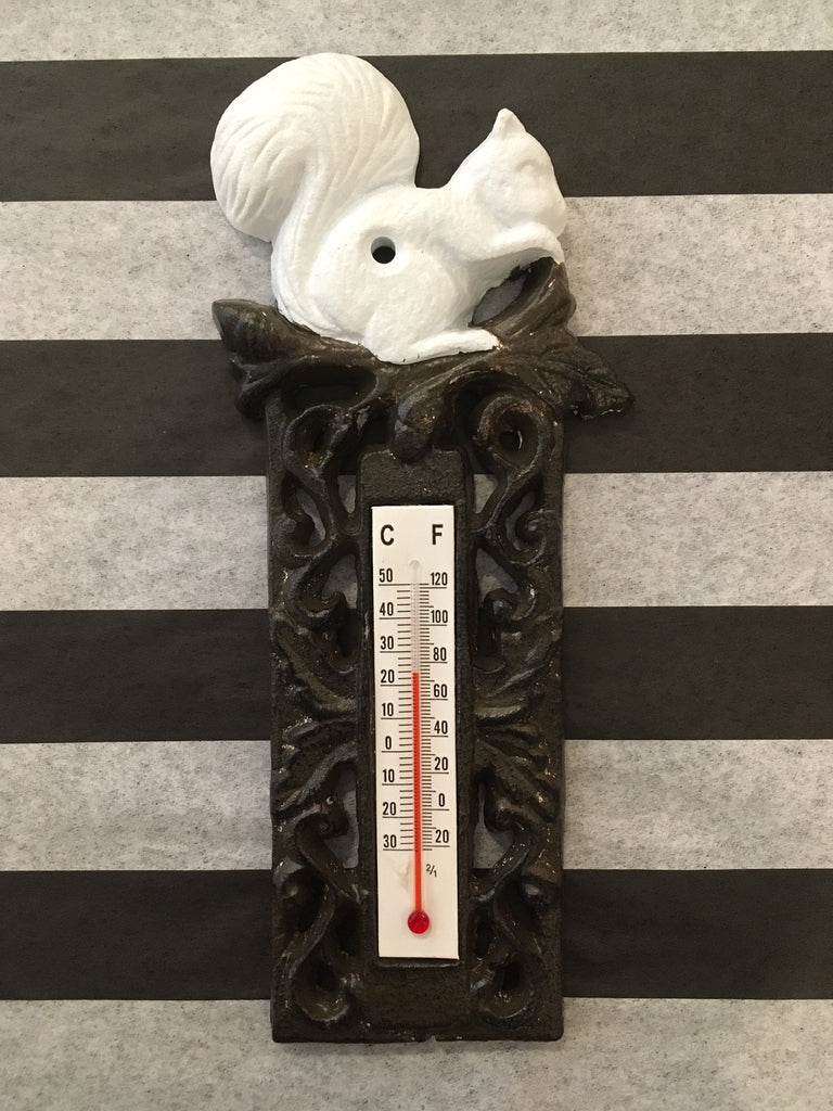 Cast Iron- Squirrel Thermometer #