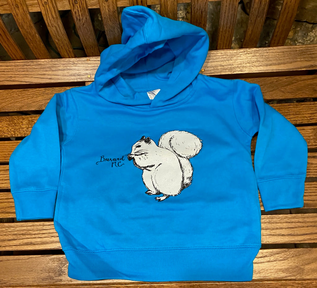 Hoodie - For Toddlers - White Squirrel Hoodie for Toddlers in Sapphire Blue