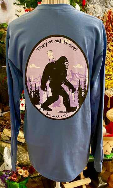 T-Shirt - For Adults - Sasquatch and the White Squirel......long sleeve, crew neck