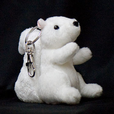 Key Chain- Stuffed White Squirrel