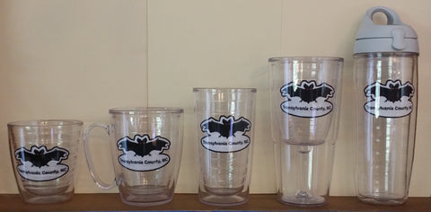 Kitchen Beverage-Tervis with Custom Transylvania County Bat Patch #