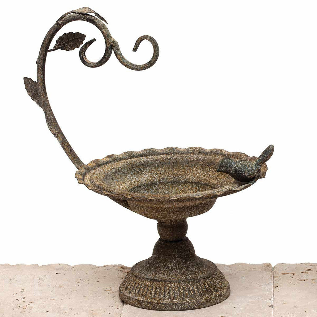 Home Accessory - Metal Scroll Pot Stand with Bird
