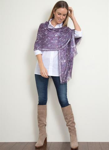 Clothing Accessory - Signature Print Collection Sequin Scarf by Simply Noelle