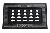 Kitchen, Laundry Room, or Door Mat- Tray in Blackor Gray with cutout for decorative inserts