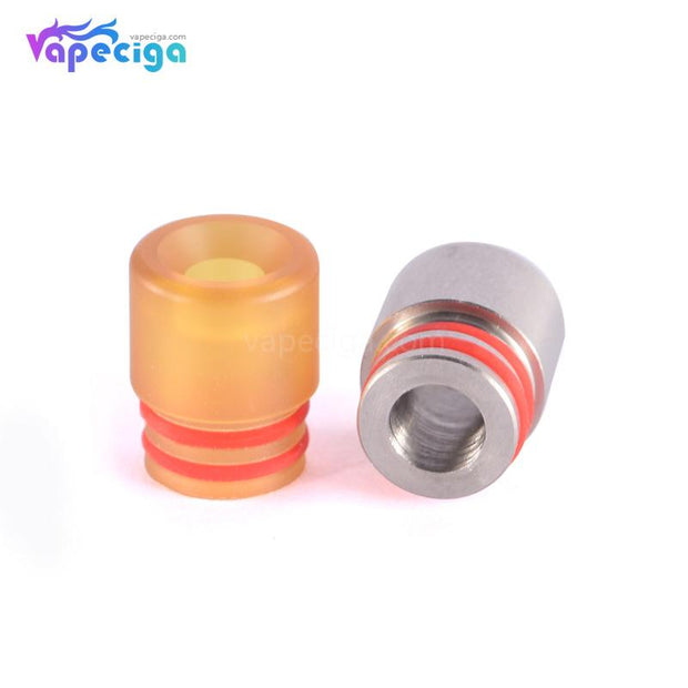 510 T7 Drip Tip Stainless Steel + POM + PEI 2 Colors Display