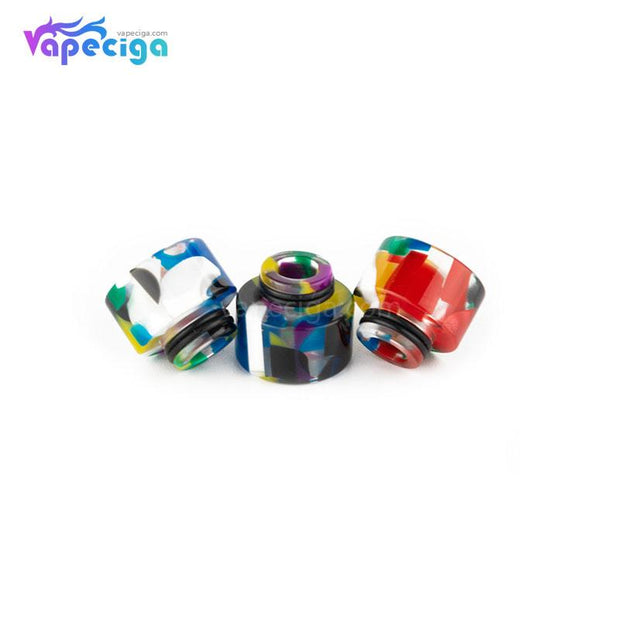 REEVAPE AS138D 510 Resin Replacement Drip Tip 3 Colors Display