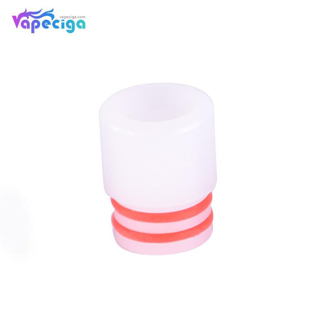 White 510 T7 Drip Tip Stainless Steel + POM + PEI