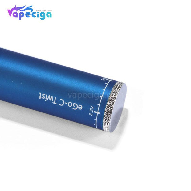 EGO-C Twist Vape Pen VV Battery 1300mAh Bottom Details