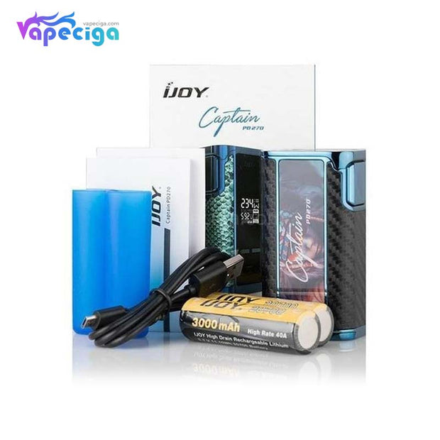 IJOY Captain PD270 234W TC Box Mod Package Includes