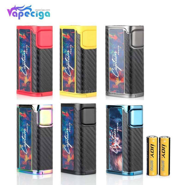 IJOY Captain PD270 TC Box Mod 234W with 2*20700 Battery 6 Colors Optional