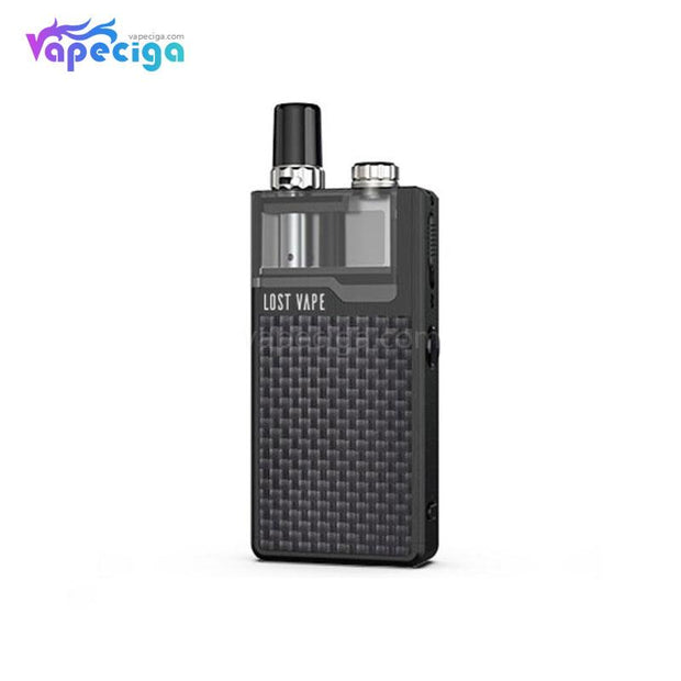 Black-Textured Carbon Fiber Lost Vape Orion Plus DNA GO Vape Pod System Starter Kit
