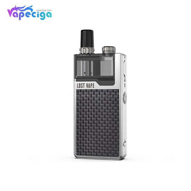 Silver-Textured Carbon Fiber Lost Vape Orion Plus DNA GO Vape Pod System Starter Kit