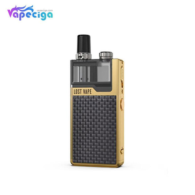 Gold-Textured Carbon Fiber Lost Vape Orion Plus DNA GO Vape Pod System Starter Kit