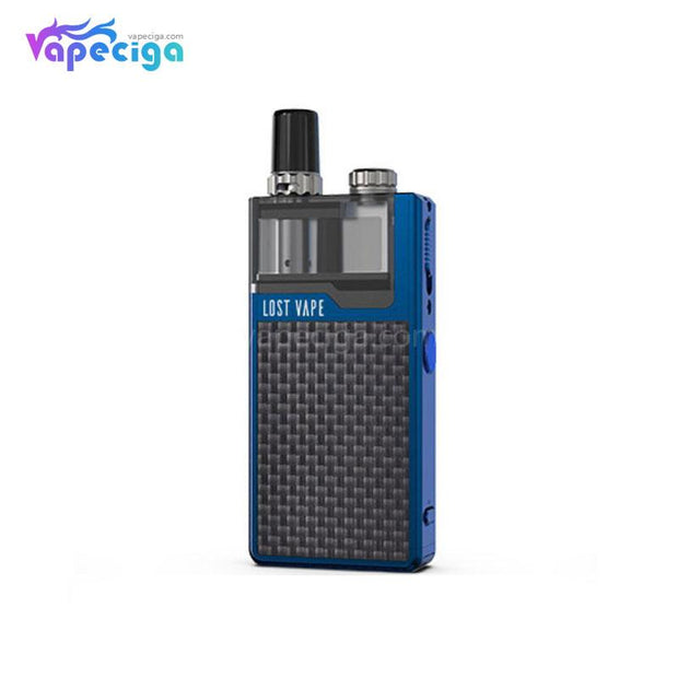 Blue-Textured Carbon Fiber Lost Vape Orion Plus DNA GO Vape Pod System Starter Kit
