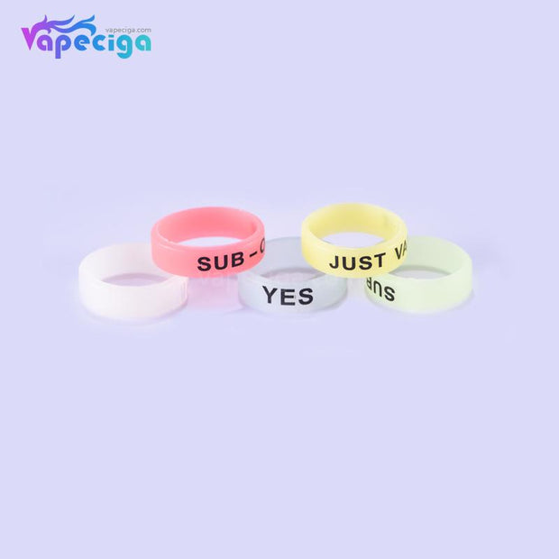 Luminous Anti-slip Silicone Beauty Ring for Tank 22*7mm 20PCs