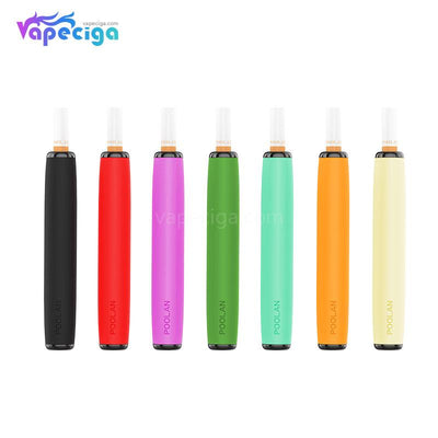 POOLAN Dispossable Vape with 4 Fliter Tip 260mAh 1.3ml 7 Pod