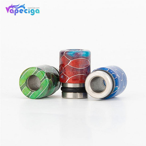 REEVAPE AS104S Straight Resin + Stainless Steel 510 Drip Tip with Single Washer - Display