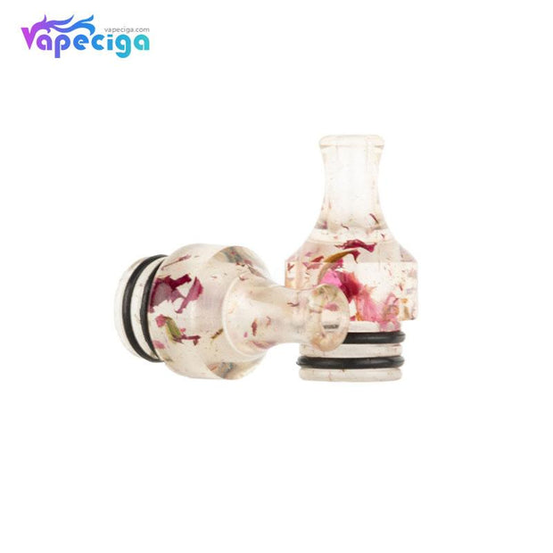 REEVAPE AS271 Resin 510 Drip Tip RReal Shots with Rose Pattern
