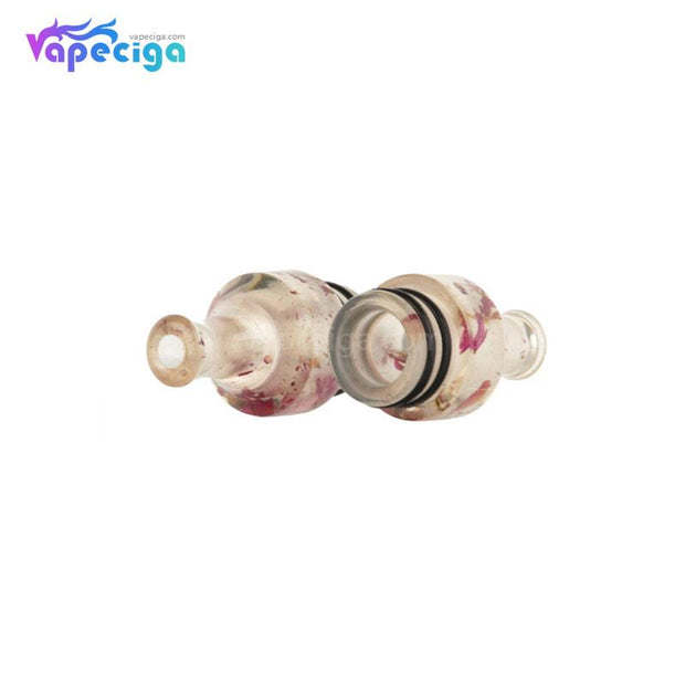 REEVAPE AS271 Resin 510 Drip Tip Details with Rose Pattern