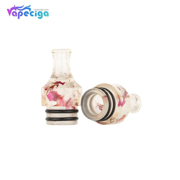 REEVAPE AS271 Resin 510 Drip Tip Real Shots with Rose Pattern