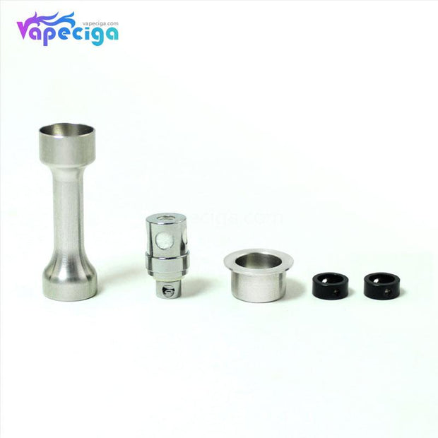 Silver SXK Replacement Ceramic Coil Head 1.5ohm + AFC Airflow Insert for Bantam 30W Mod