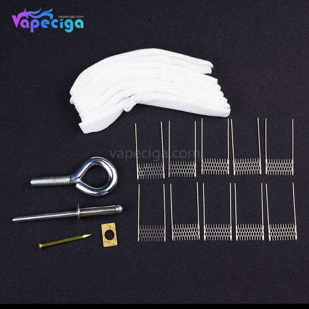 VAPJOY DIY Rebuild Kit with RPM-VM1 Ni80 Mesh Coil 0.4ohm for SMOK RPM40 / RPM80