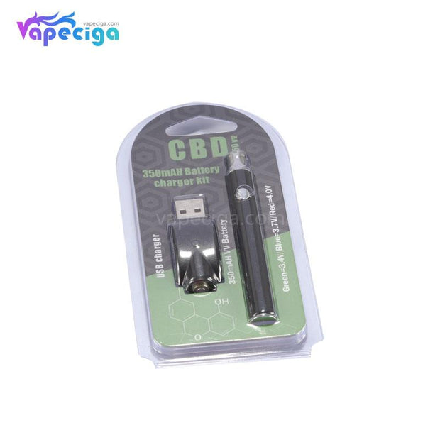 Vape Pen VV Battery with USB Charger 3 Modes 350mAh Package