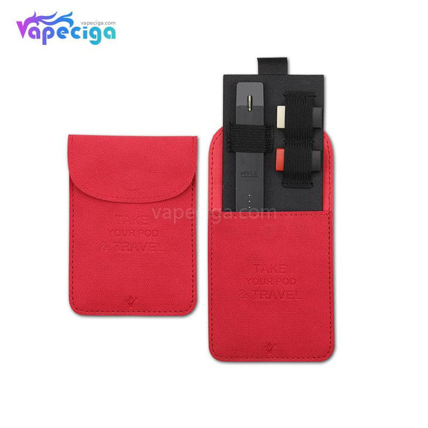 Vivismoke Leather Pocket Case Red for Pod System