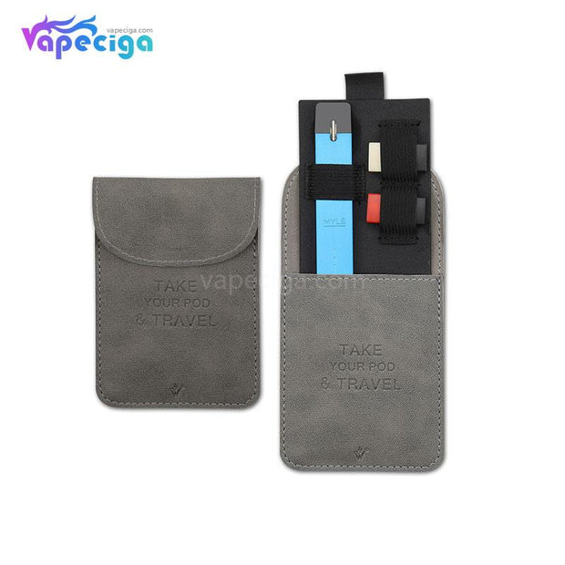 Vivismoke Leather Pocket Case Gray for Pod System