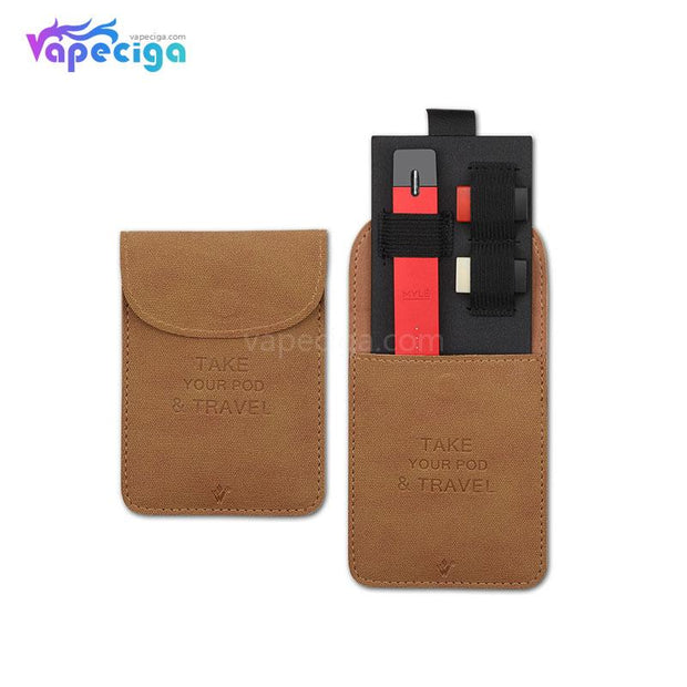 Vivismoke Leather Pocket Case Brown for Pod System
