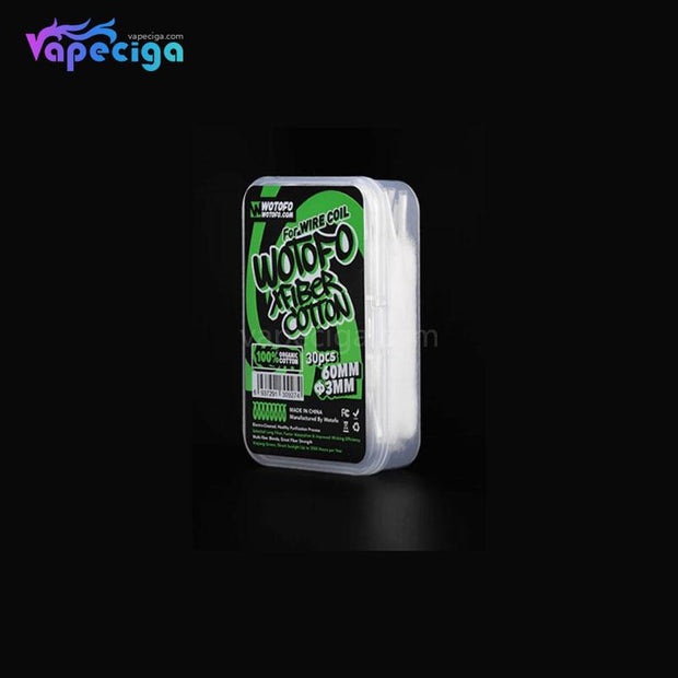 WOTOFO Vape Wicking Organic Cotton Display Details