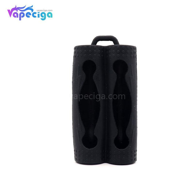 YUHETEC Silicone Protective Case Black for Dual 18650 Battery