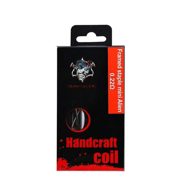 Demon Killer Handcraft Coil Ni80 Framed Staple Mini Alien Package