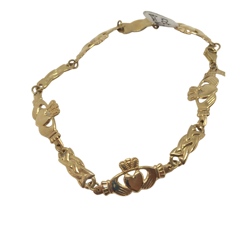 9ct Gold Claddagh Bracelet