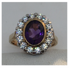 Large Amethyst Cluster Ring