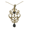 Gold Pendant with Sapphire and Cultured Seed Pearls