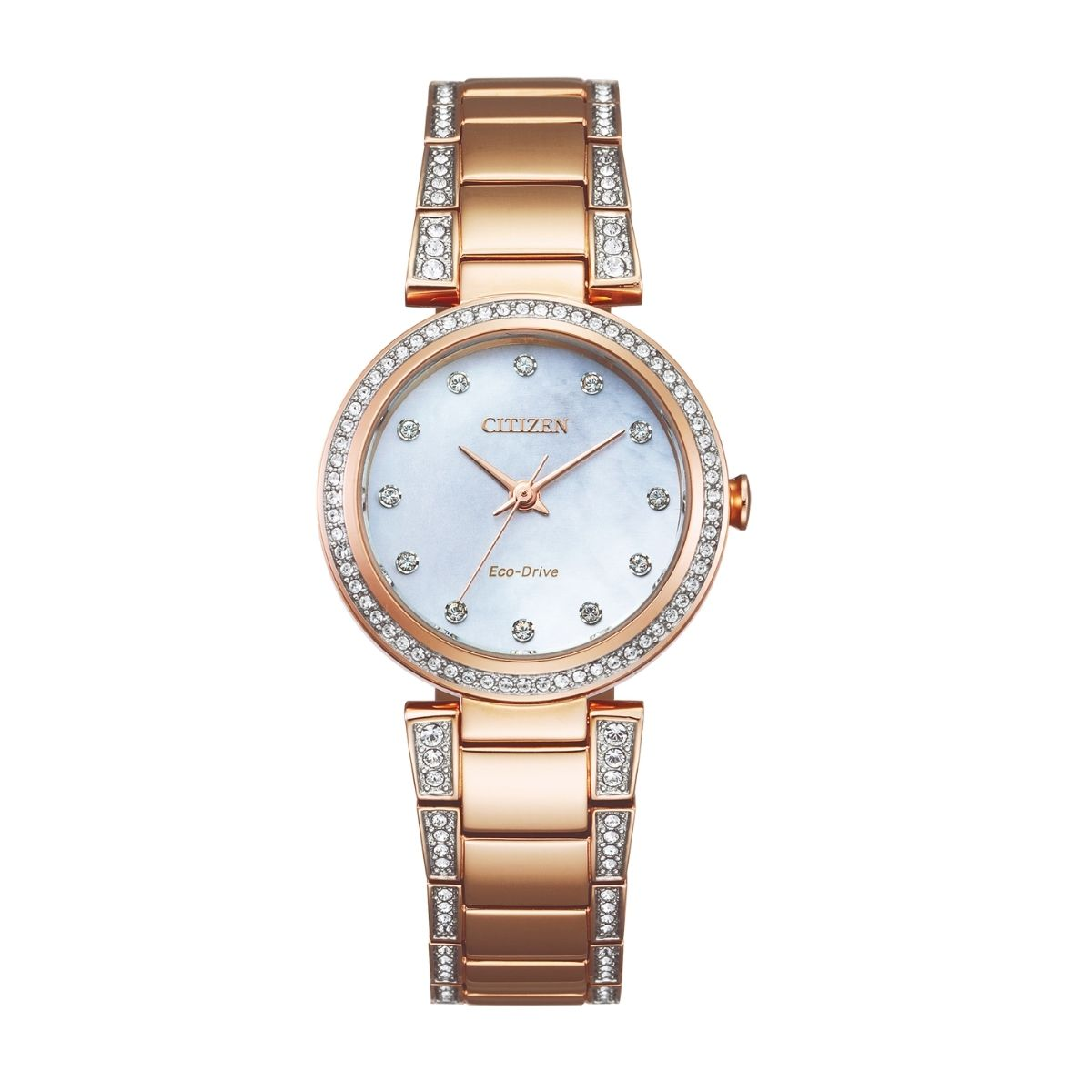 Citizen Rose Gold & Crystal Watch