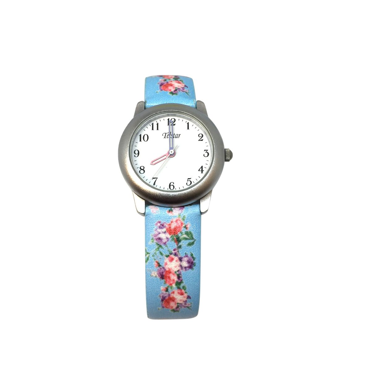 Telstar Watch With Floral Strap Design - Blue Colour