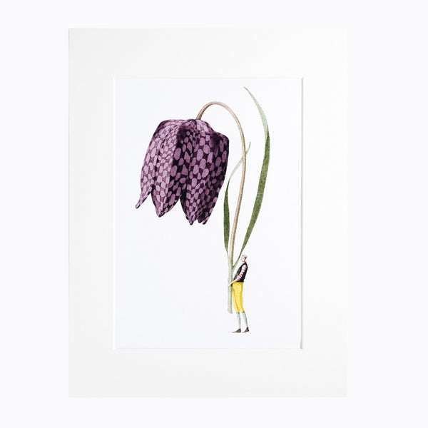 "Fritillary ""In Bloom"" Mounted Print"