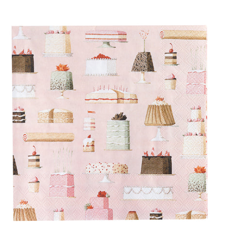 Cakes Paper Napkins - NEW for 2019