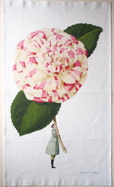 In Bloom Tea Towel - Camellia