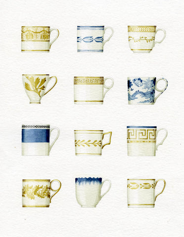 "Limited edition ""Coffee Cups"" mounted print"