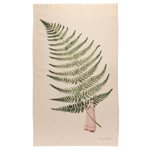 Fabulous Ferns - single fern Tea Towel