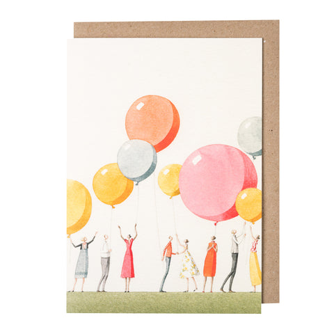 Greetings Card - Balloon Party